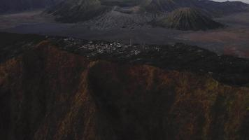Aerial Shot  Volcanoes in Indonesia
