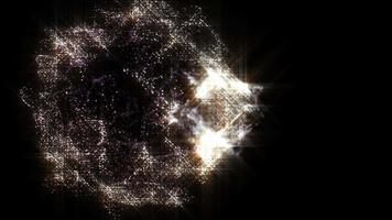 nebulosa de partículas brilhando no fundo do movimento espacial video