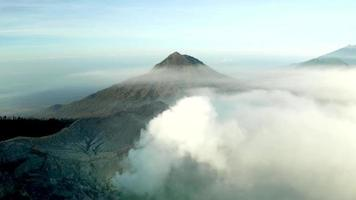Aerial view of Ijen Crater, Indonesia