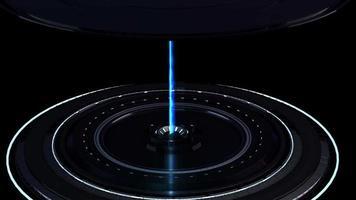 apparecchiatura interstellare fantascientifica con raggio laser energetico
