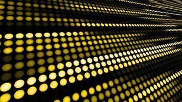 Animation abstrakt beleuchtend Punkt Lichter in Linie mit Schleife