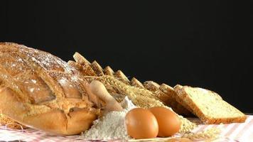 farine de pain alimentaire et composition des œufs
