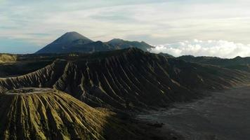 Beautiful Aerial Shot on Mount Bromo, Indonesia