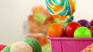 deliciosos doces coloridos açucarados video