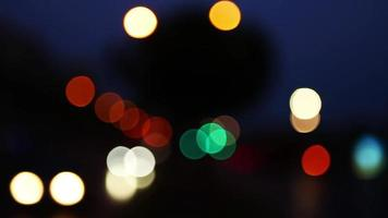 The Corwded Traffic Bokeh  video