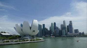 Marina Bay Skyline, Singapur. video