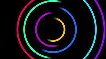 Abstract neon circle background