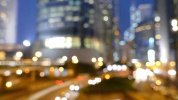Blurred Hong Kong City