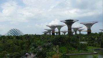 Baía do jardim com lapso de tempo em Cingapura