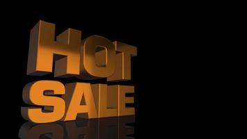 animação de texto de venda quente ouro.