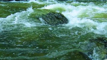 rio de águas brancas fluindo sobre as rochas