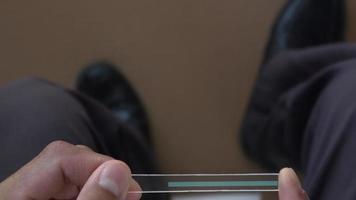 tecnología futurista en la mano. video