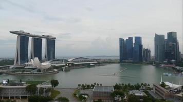 lapso de tiempo del paisaje urbano de singapur
