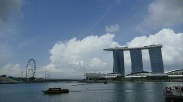time lapse ville de singapour par la baie de la marina.