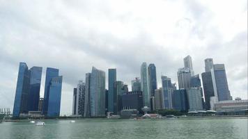 Distrito financiero de lapso de tiempo en Singapur video