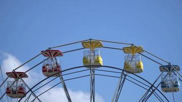 Ferris Wheel Close-up at Amusement Park in Bostanci, Istanbul.