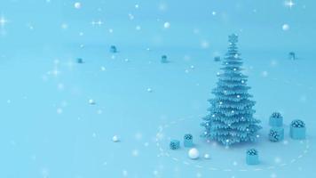árvore de natal e caixa de presente. video