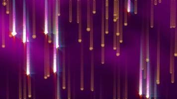 fallender funkelnder leuchtender Linienvideohintergrund