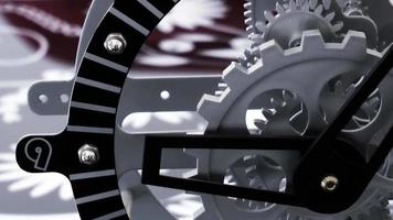 engrenages d'horloge mécanique vintage video