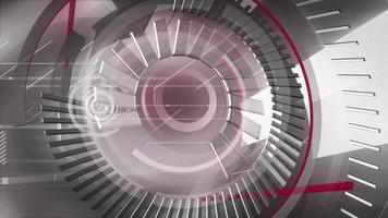 fundo abstrato de círculos de ferro video