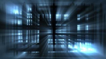 resplandeciente luz azul abstracta