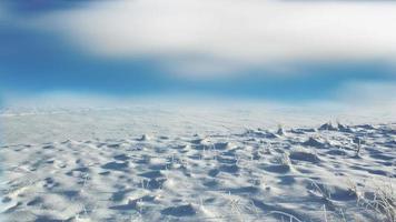 composizione di un paesaggio invernale soleggiato