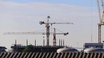 construction de bâtiments modernes time lapse