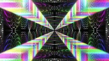 loop de fundo do túnel abstrato video