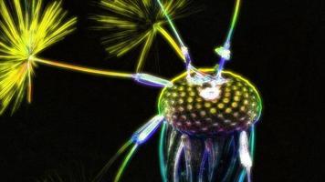 flor-de-leão desbotada em cores neon