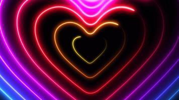 Animación de corazones de colores.