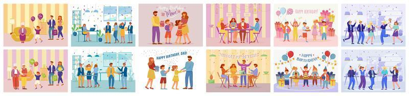 tema de fiesta de cumpleaños vector