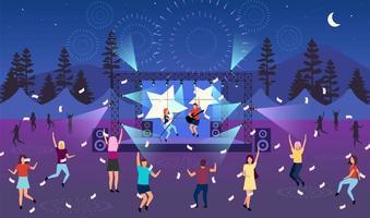 Nighttime music festival vector
