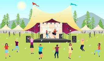 Summer music festival vector