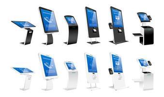Self order kiosks vector