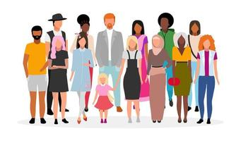 Multiracial people group vector