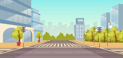 City street flat background vector