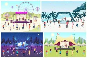 Music festival set vector