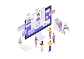 Client service isometric vector