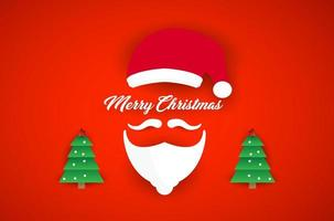 barbas de santa claus y feliz navidad