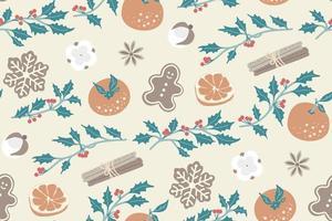 Christmas seamless pattern. vector