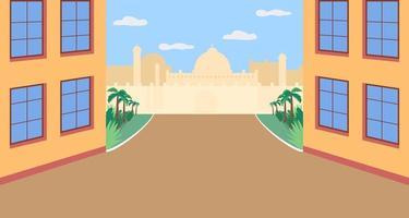 plaza india plana vector