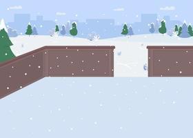 pista de patinaje sobre hielo vector