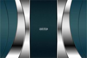 Elegant blue and silver metallic background vector