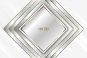 Modern silver and gold metallic background vector