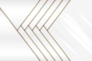 Modern white and gold metallic background vector