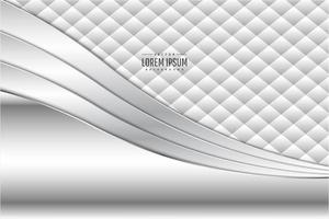 Modern white and silver metallic background vector