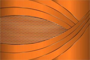fondo metálico naranja moderno vector
