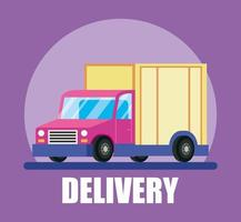 Delivery truck and courier service banner vector