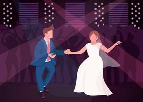 fiesta de la noche de bodas vector