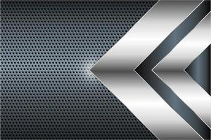 Modern silver and grey metallic background vector